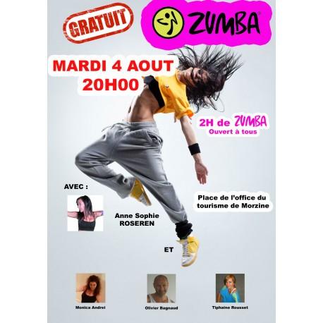 Masterclass Zumba été 2015 à Morzine.